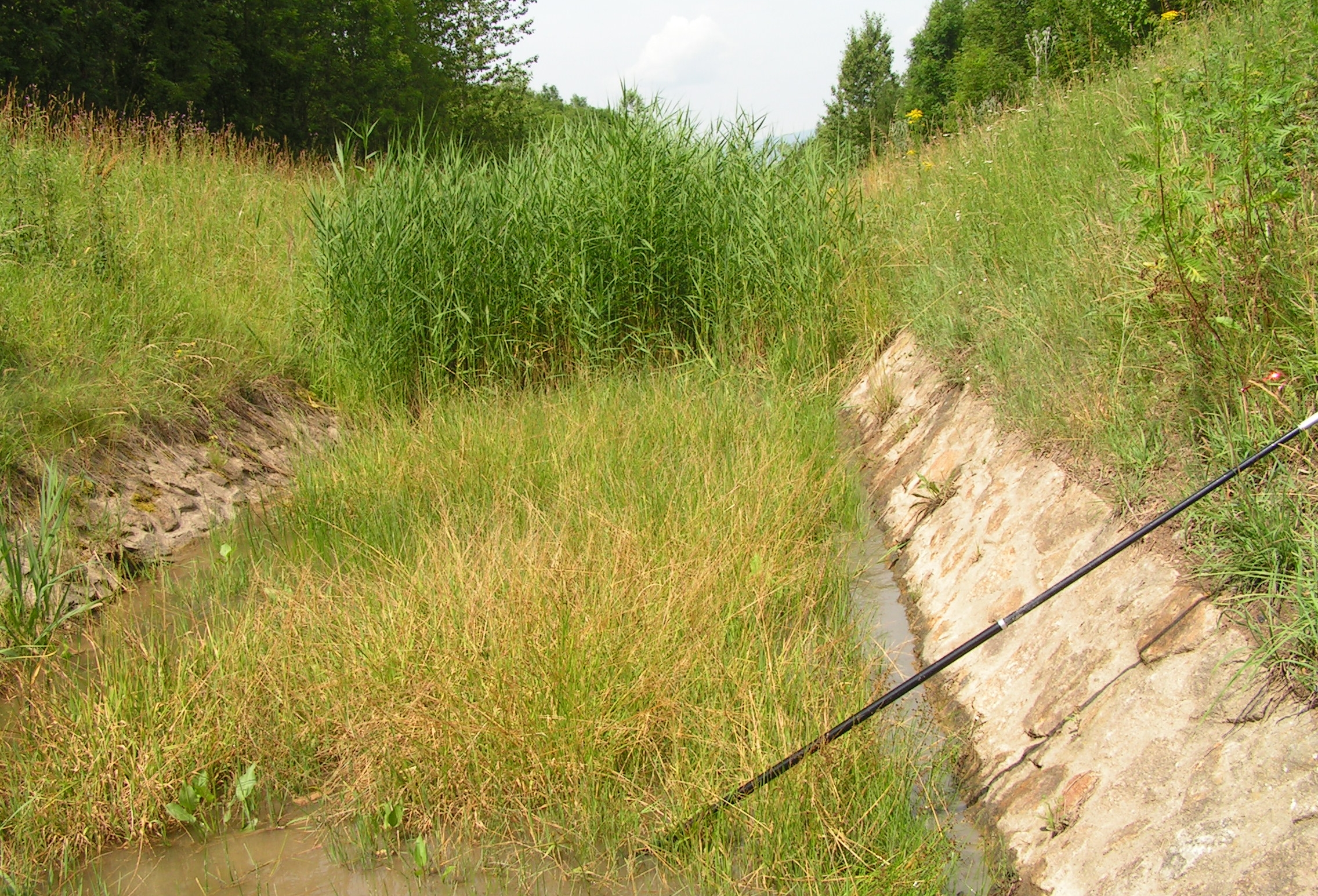 post-mining drainage channel