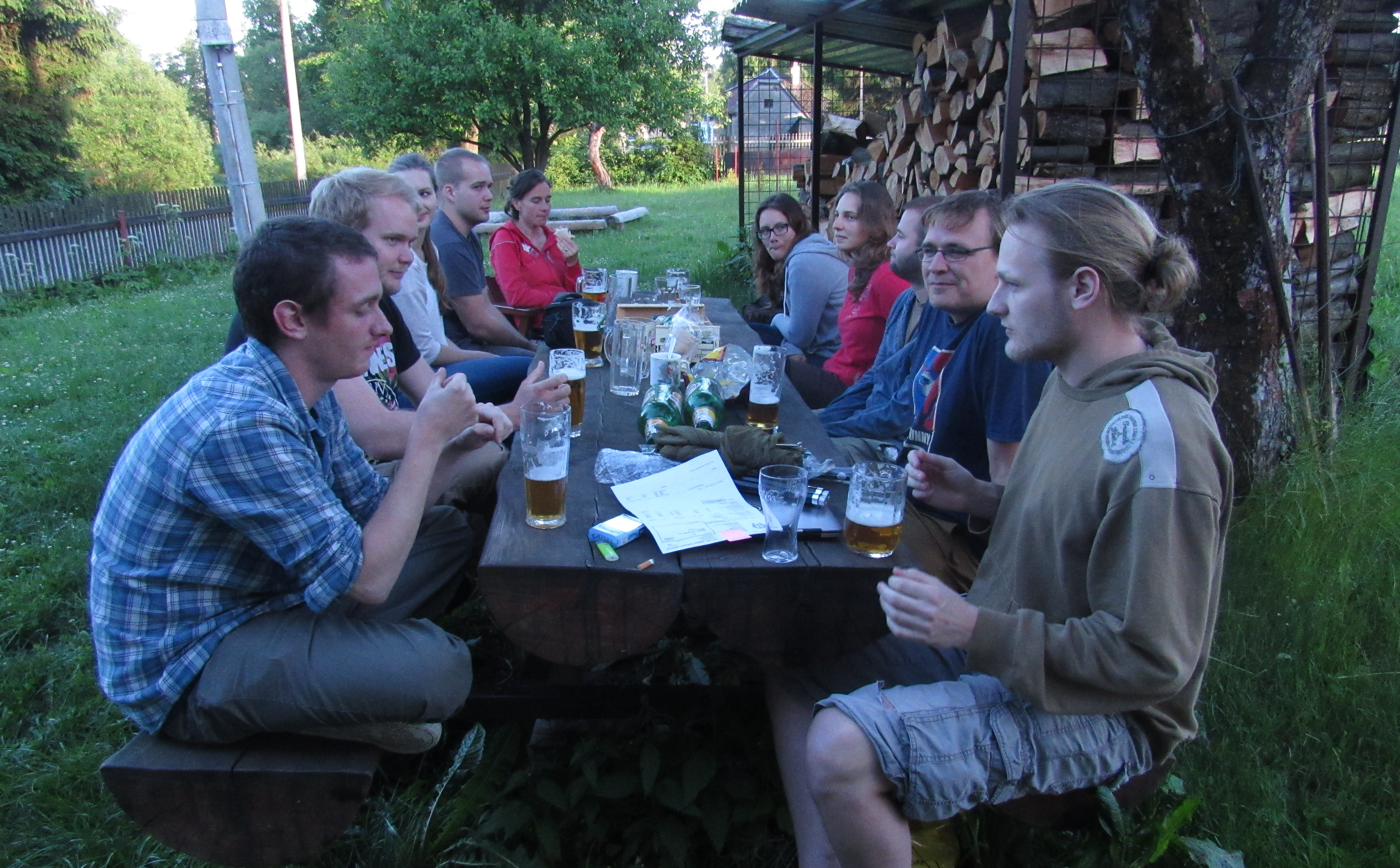 The Insect Community Ecology Group at their meeting in Křižánky.